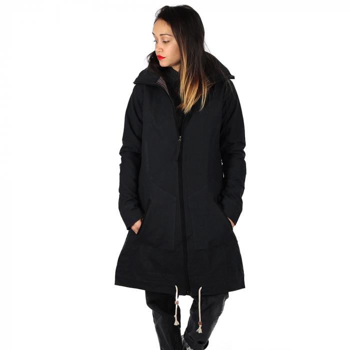 Jacheta din bumbac - NEGRU 2