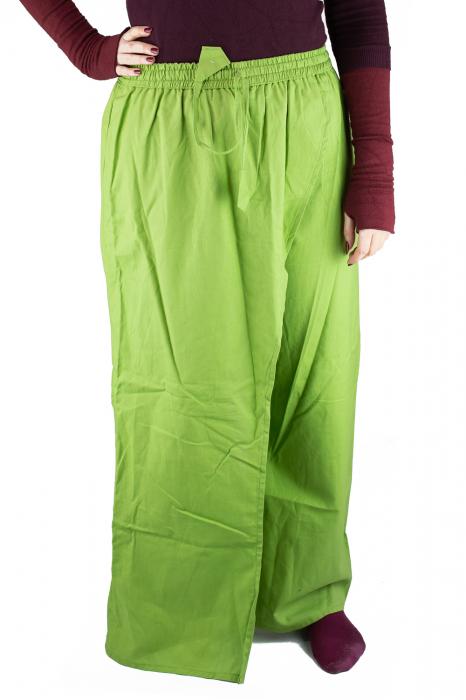 Pantaloni tip fusta din bumbac - Verde 0