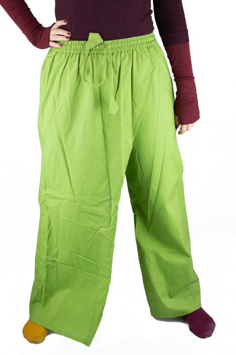 Pantaloni tip fusta din bumbac - Verde 2