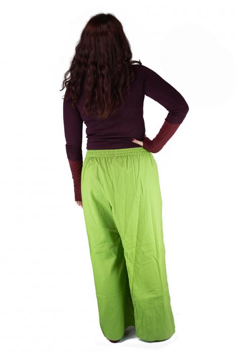Pantaloni tip fusta din bumbac - Verde 6