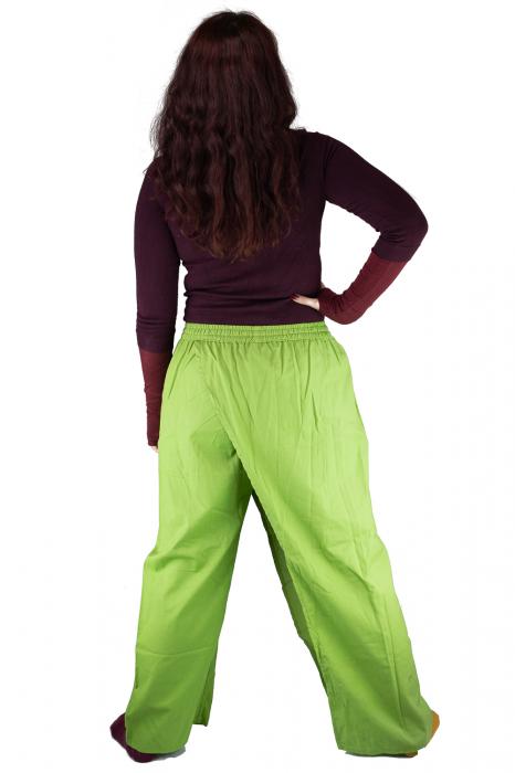 Pantaloni tip fusta din bumbac - Verde 7