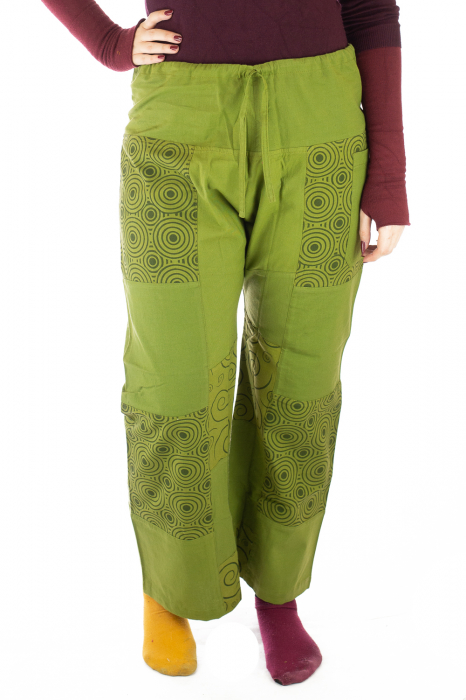 Pantaloni din bumbac verzi - Mandala 0