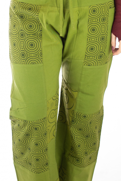 Pantaloni din bumbac verzi - Mandala 1