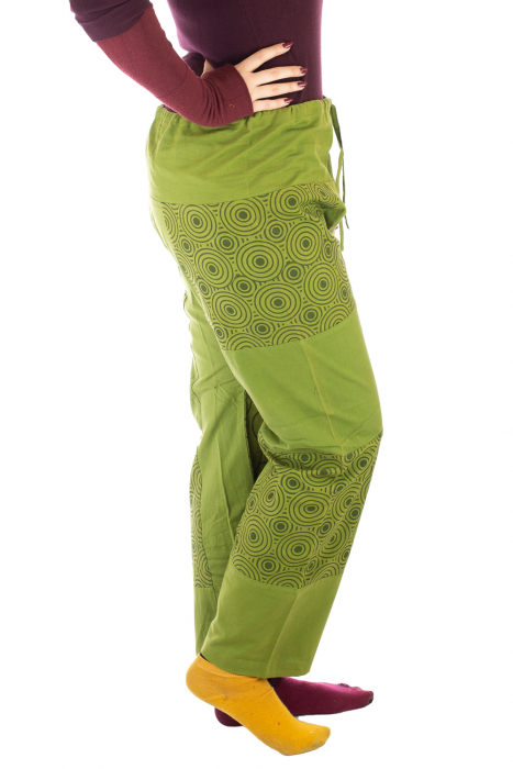 Pantaloni din bumbac verzi - Mandala 2
