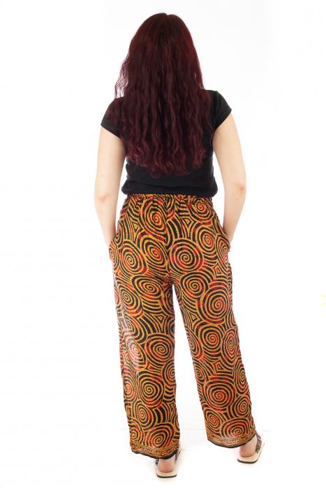 Pantaloni lejeri din bumbac colorati - Spiral - Portocalii 3