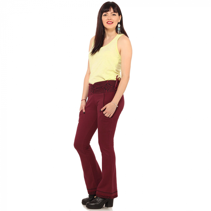 Pantaloni burgundy - Spirals 1