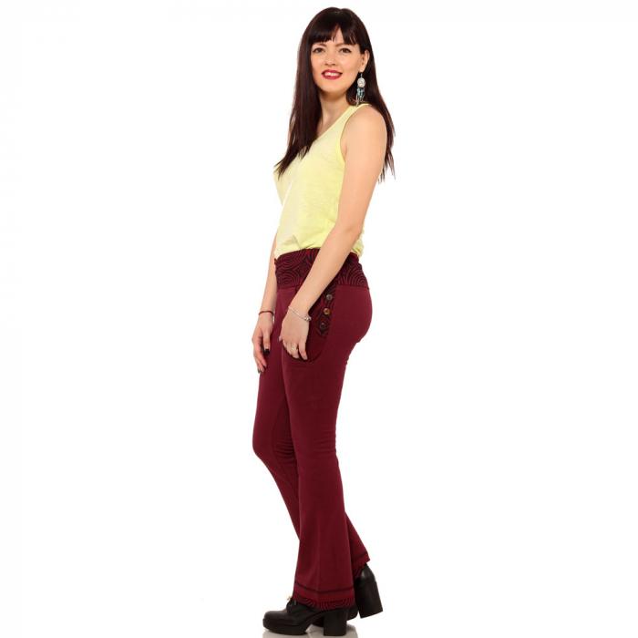 Pantaloni burgundy - Spirals 3