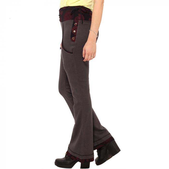 Pantaloni gri negru - Mandala rosie 2