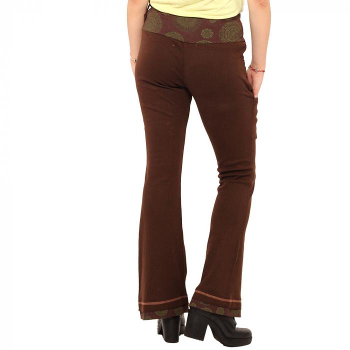 Pantaloni maro - Mandala verde 3