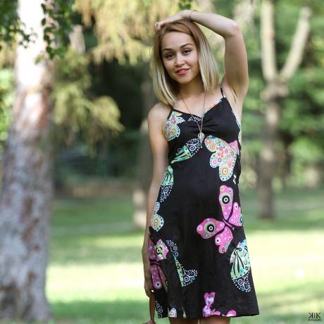 Rochie neagra de vara - FLUTURE 1