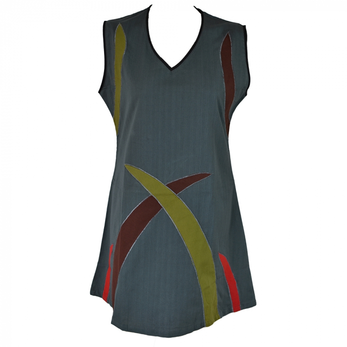 Rochie din bumbac natural - ABSTRACT 1