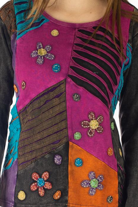 Bluza colorata cu patch-uri - Multicolor [1]