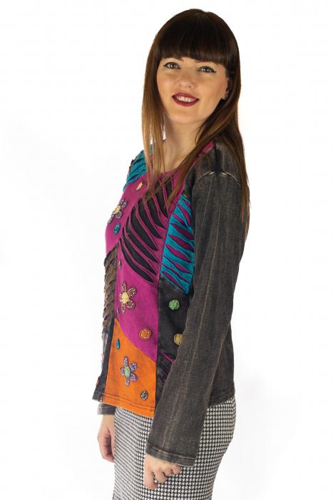 Bluza colorata cu patch-uri - Multicolor [2]
