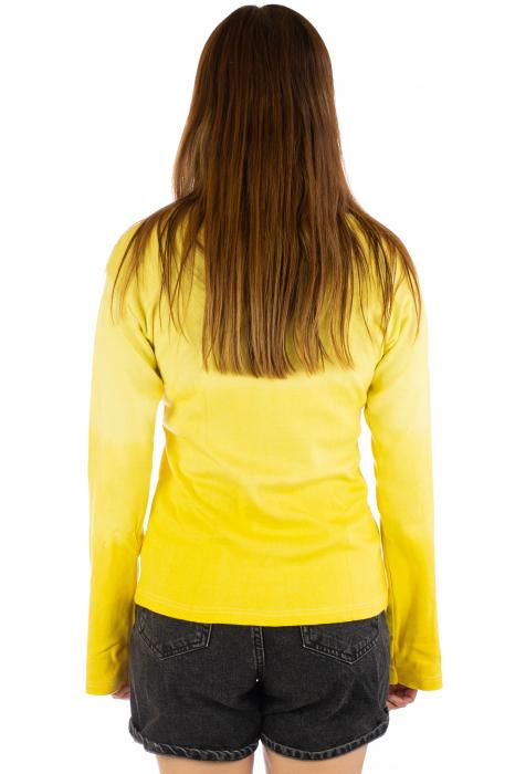 Bluza galbena in degradeu 3