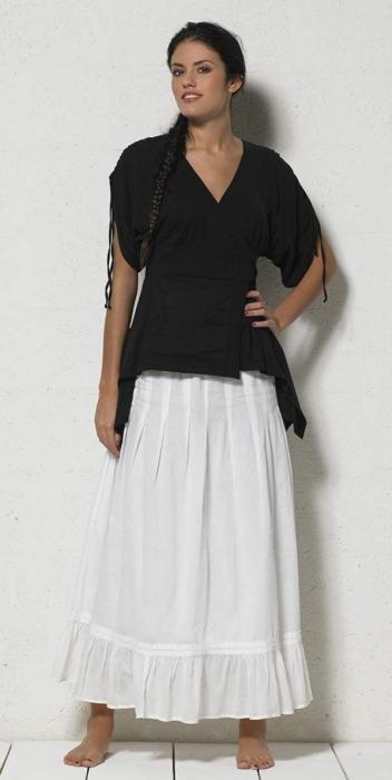 Bluza de vara petrecuta neagra  - TS13657 1