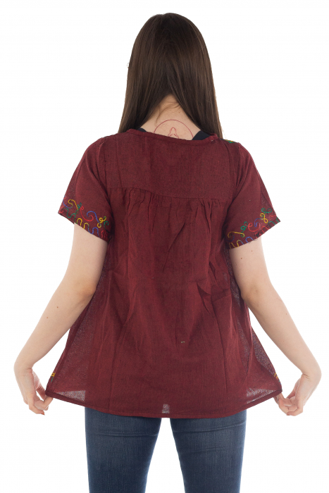 Bluza din bumbac cu broderie  - Color combo 1 3