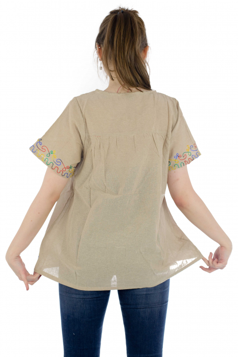 Bluza din bumbac cu broderie  - Color combo 4 [4]