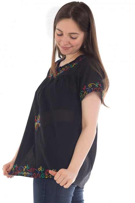 Bluza din bumbac cu broderie  - Color combo 6 2