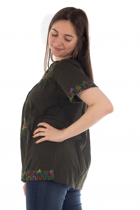 Bluza din bumbac cu broderie  - Color combo 7 [2]