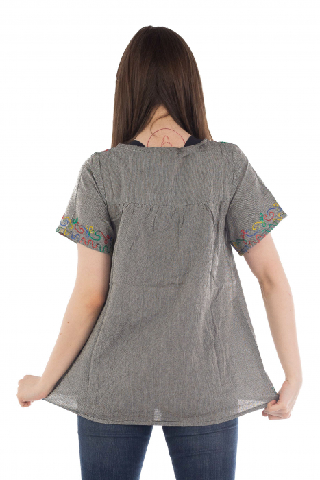 Bluza din bumbac cu broderie  - Color combo 8 3