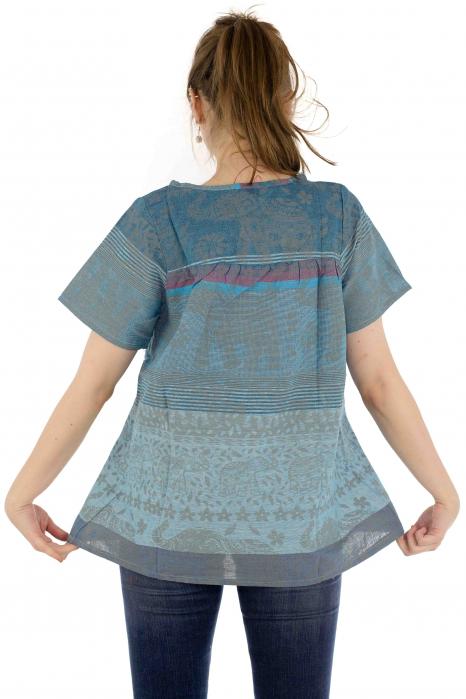 Bluza din bumbac cu maneca scurta  - Color combo 1 4