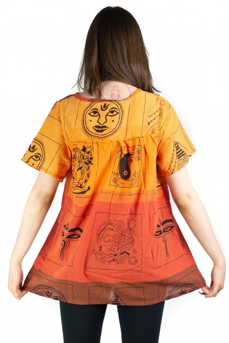Bluza din bumbac cu maneca scurta  - Color combo 10 [3]