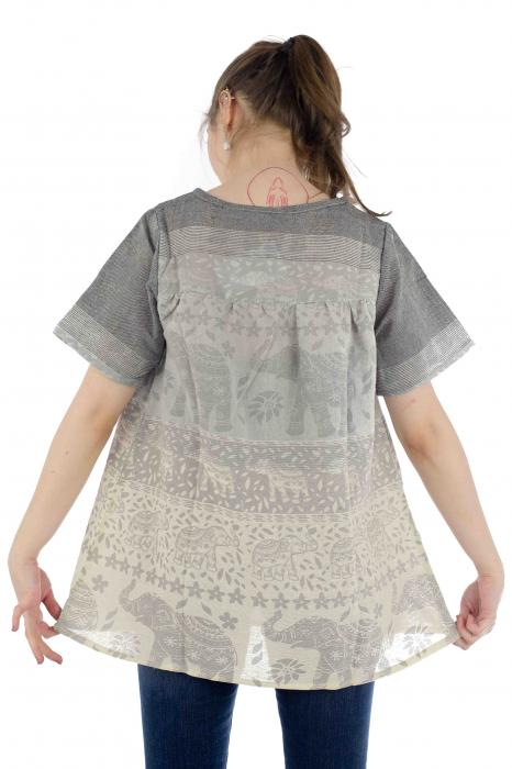 Bluza din bumbac cu maneca scurta  - Color combo 11 [4]