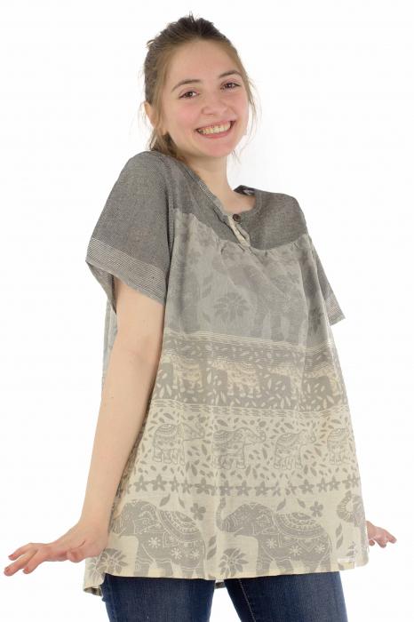 Bluza din bumbac cu maneca scurta  - Color combo 11 [3]