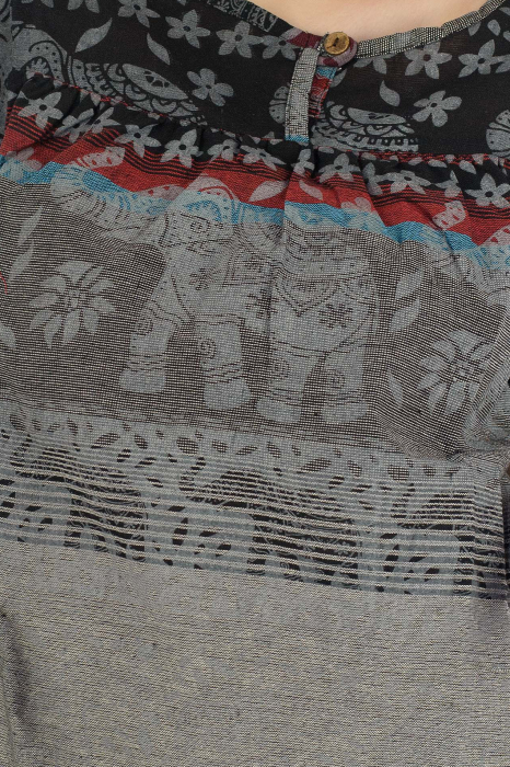 Bluza din bumbac cu maneca scurta  - Color combo 13 1