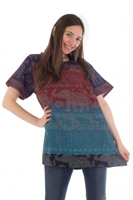 Bluza din bumbac cu maneca scurta  - Color combo 3 [4]