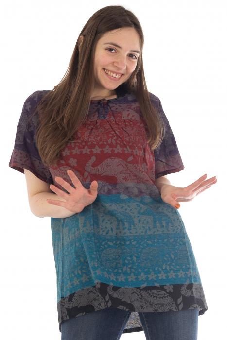 Bluza din bumbac cu maneca scurta  - Color combo 3 [0]
