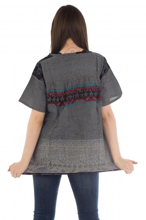 Bluza din bumbac cu maneca scurta  - Color combo 6 [3]