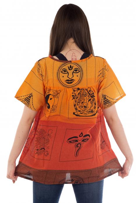 Bluza din bumbac cu maneca scurta  - Color combo 8 2