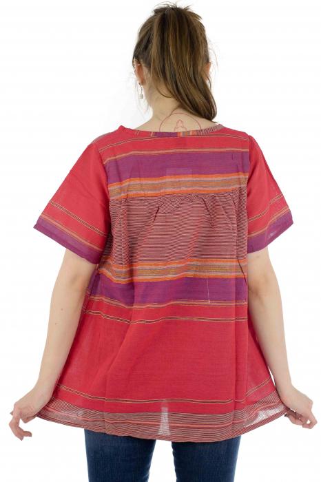 Bluza din bumbac cu maneca scurta  - Color combo 9 4