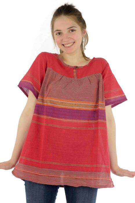 Bluza din bumbac cu maneca scurta  - Color combo 9 0