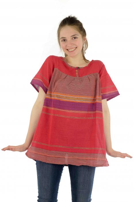 Bluza din bumbac cu maneca scurta  - Color combo 9 1