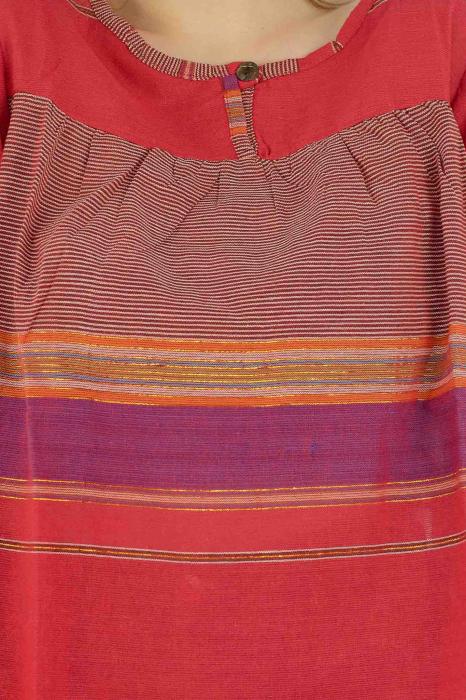 Bluza din bumbac cu maneca scurta  - Color combo 9 2