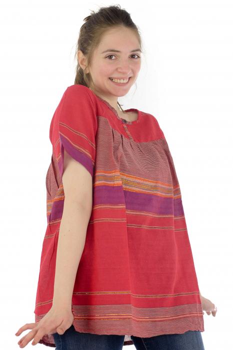 Bluza din bumbac cu maneca scurta  - Color combo 9 3