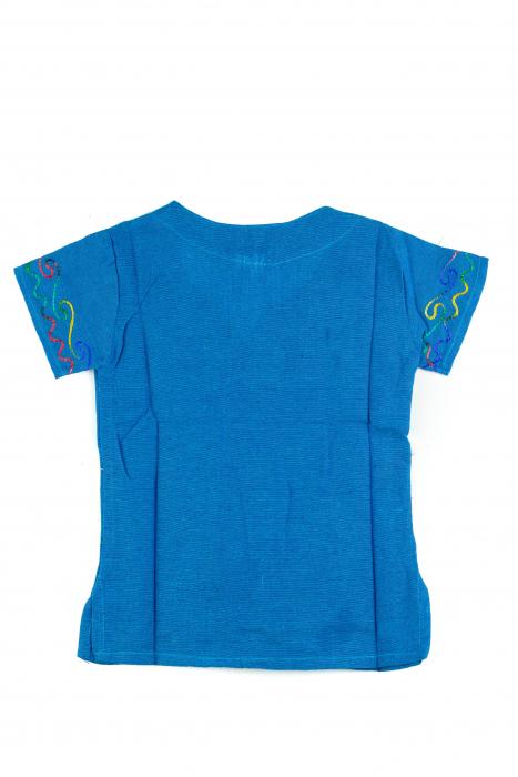 Bluzita cu broderie pentru copii - Albastru [1]
