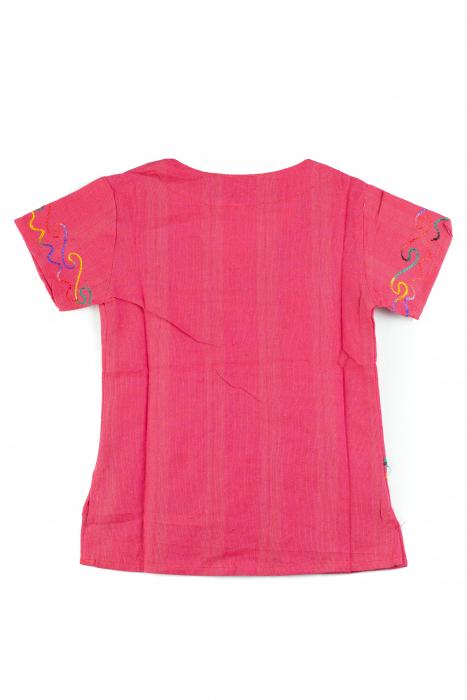 Bluzita cu broderie pentru copii - Roz [1]