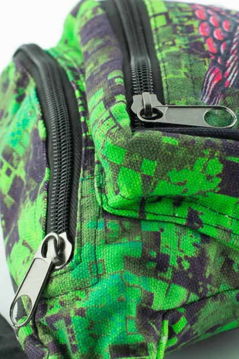 Borseta Tie Dye - Bufnita verde 3