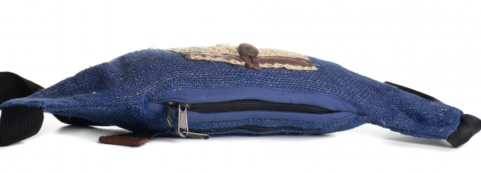 Borseta din canepa - Albastra [2]