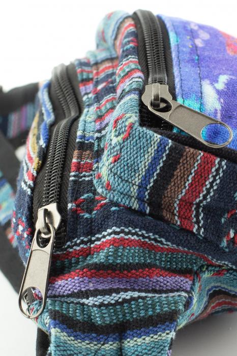 Borseta Tie Dye - Horse Albastru 2