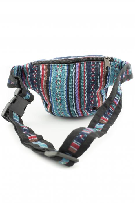 Borseta Tie Dye - Horse Albastru 3