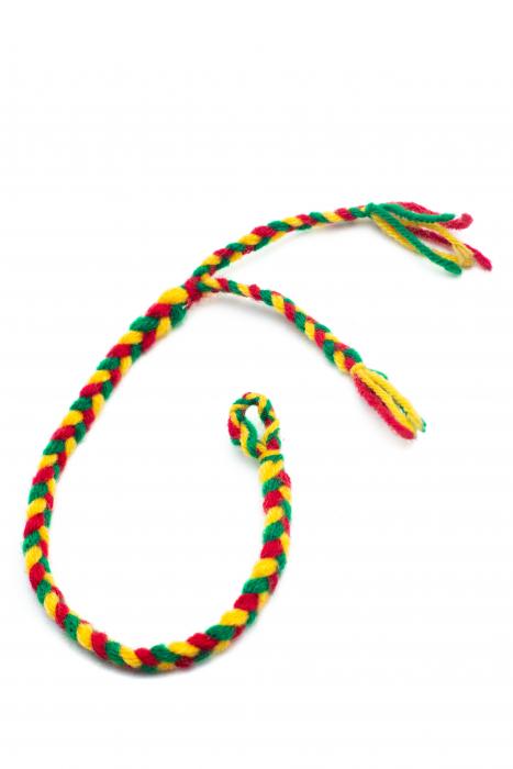 Bratara de picior impletita - Multicolora [1]