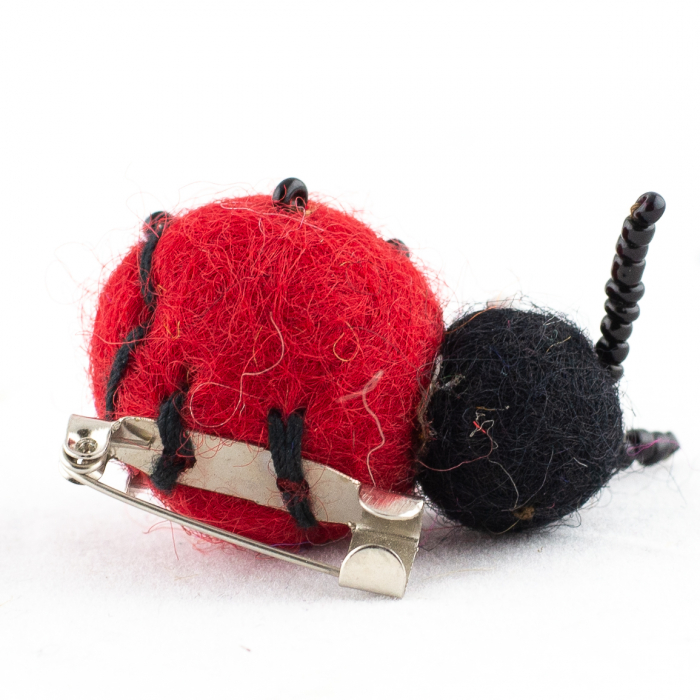 Brosa din felt - Lady Bug 1