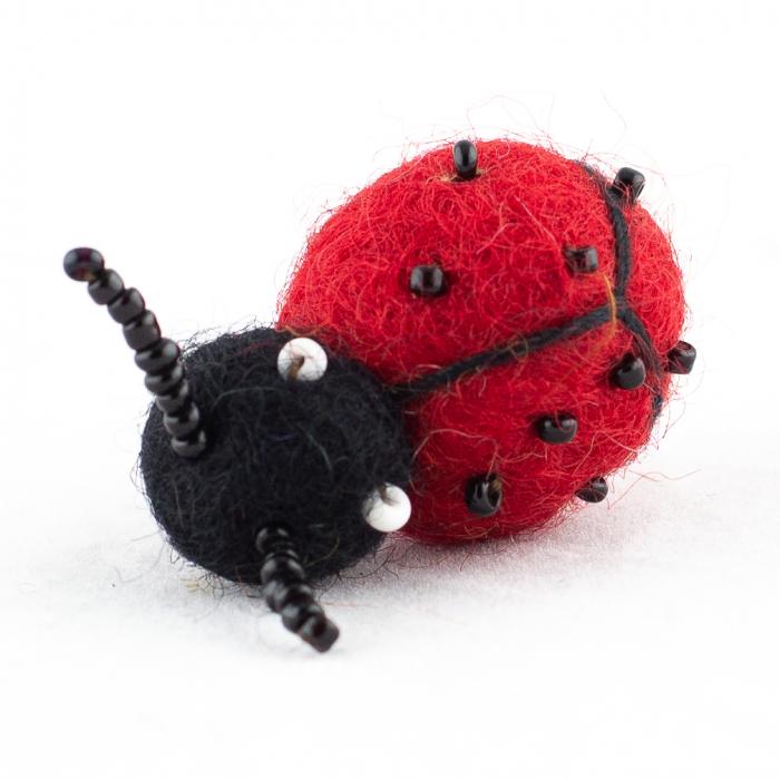 Brosa din felt - Lady Bug 0