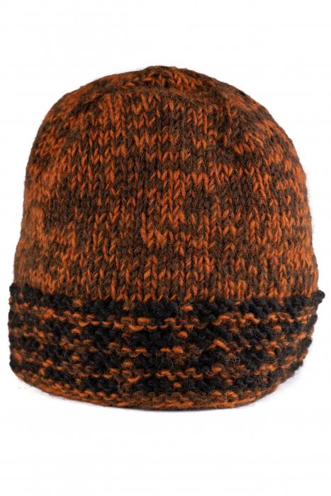 Caciula din lana - Black and Brown 0