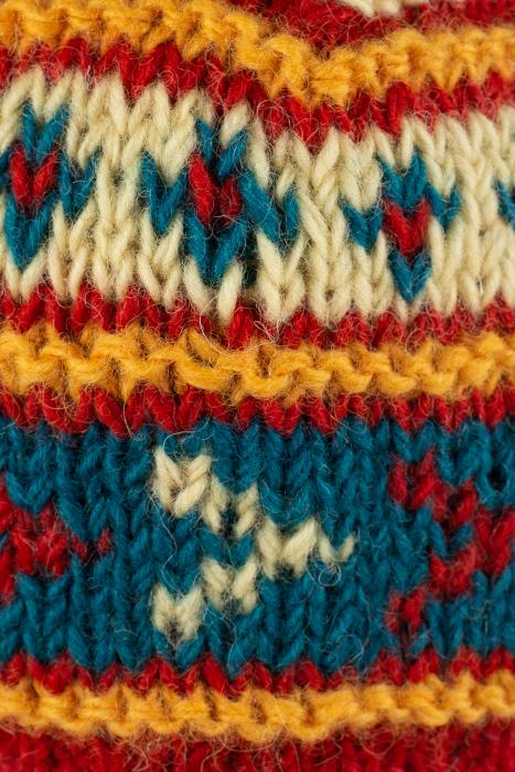 Caciula din lana - Blue and Yellow 3