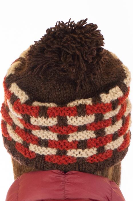 Caciula din lana - Brown 6